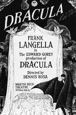 Edward Gorey tarafından çizilmiş  Dracula Kitap Kapağı