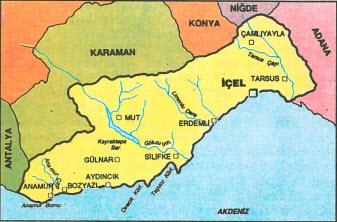 İçel harita