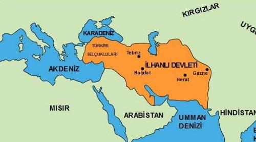İlhanlılar Devleti haritası