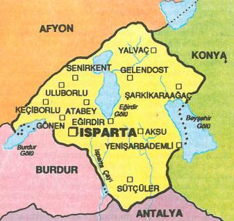 Isparta haritası