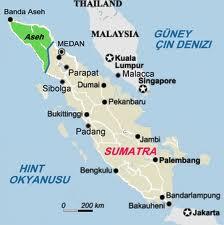 Sumatra Adası haritası