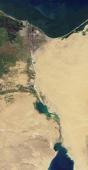 Süveyş Kanalı Uydu Görüntüsü
