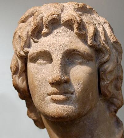Helenistik dönemden Büyük İskender'in büstü, British Museum