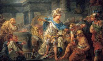 Alexander Gordian Düğümünü Keser (1767), Jean-Simon Berthélemy