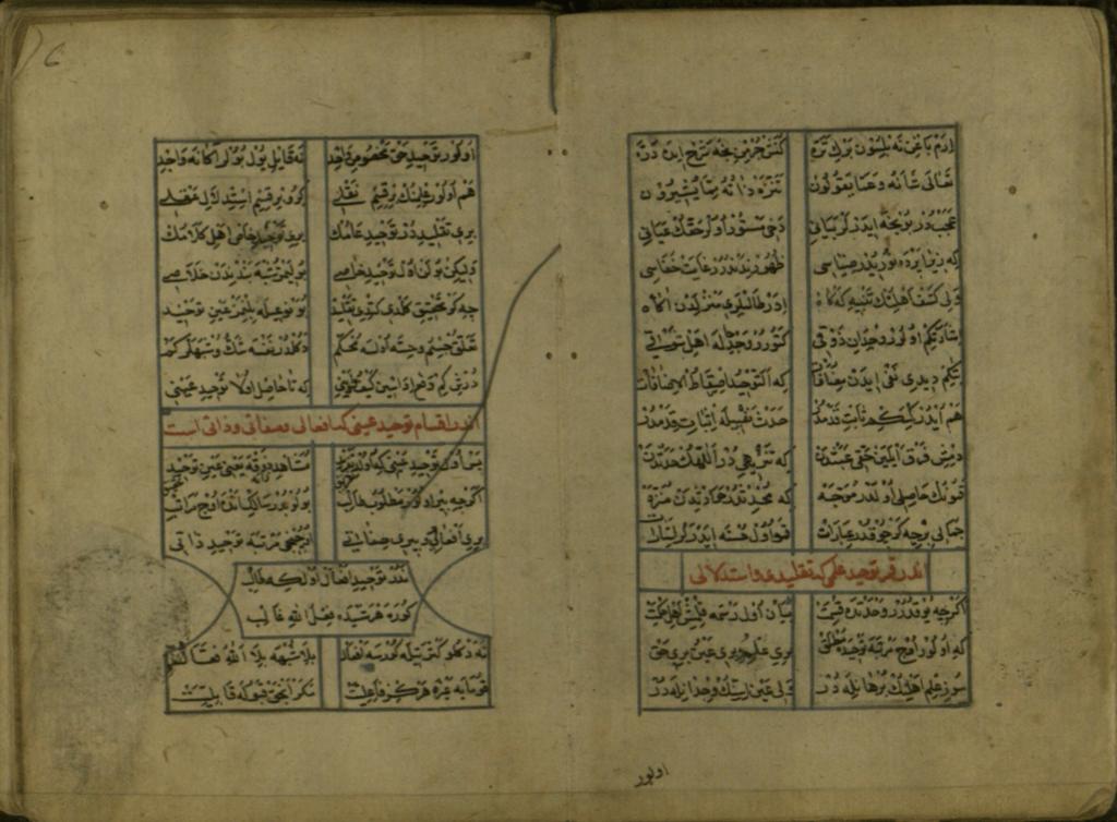 Şeyhî'nin (ö. 1431) Hüsrev ü Şirin adlı mesnevi türündeki eserinin Milli Kütüphane'de bulunan nüshasından bir görünüm.