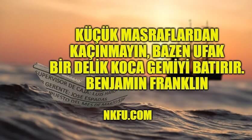 Benjamin Franklin Resimli Sözleri