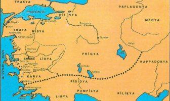 Lidyalıların Haritası