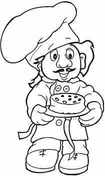 Aşçı Boyama Sayfası