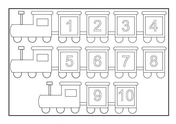 Free coloring pages of train number