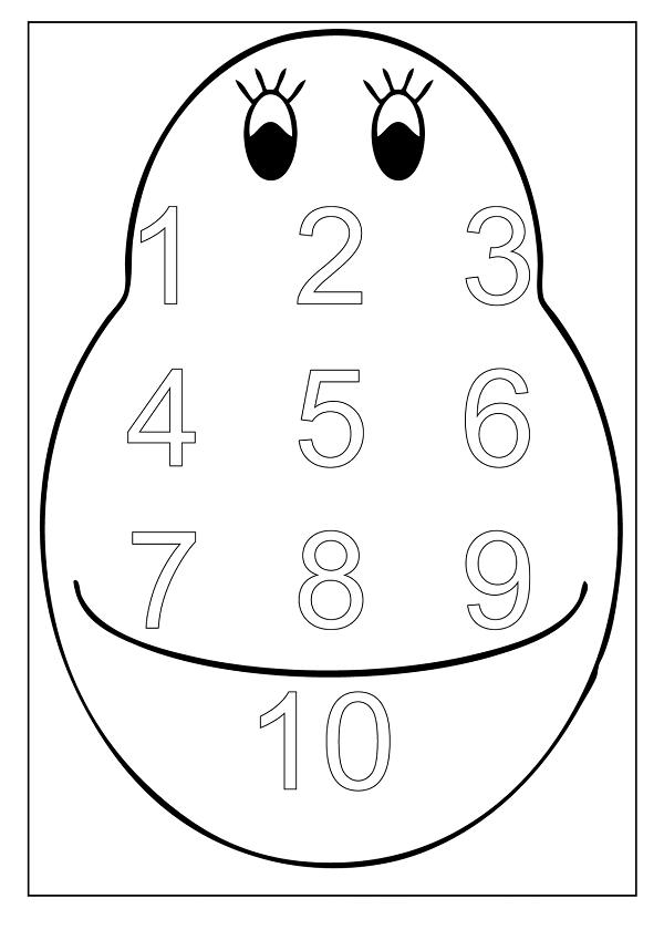 Rakam (Sayı) Boyama Sayfaları