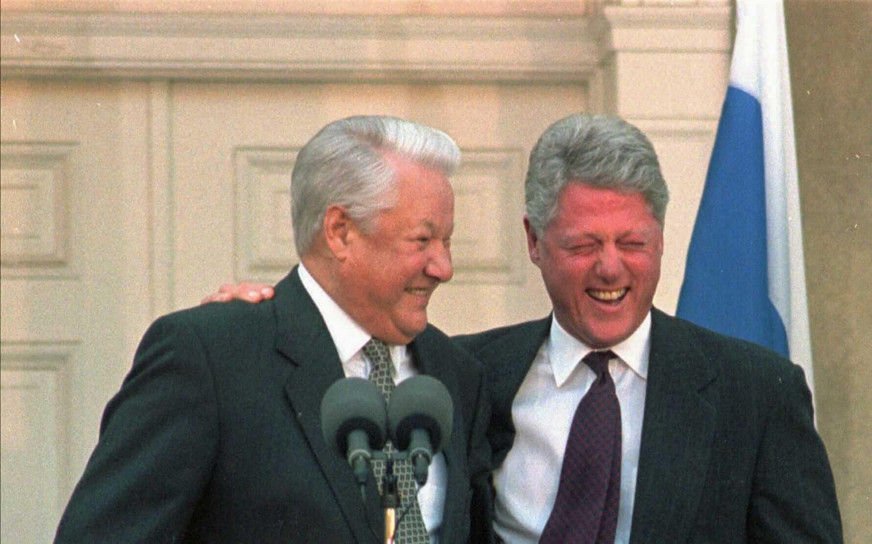 Boris Yeltsin ve Bill Clinton