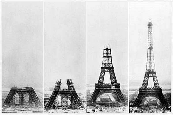 Eyfel (Eiffel) Kulesi Yapımı Aşamaları