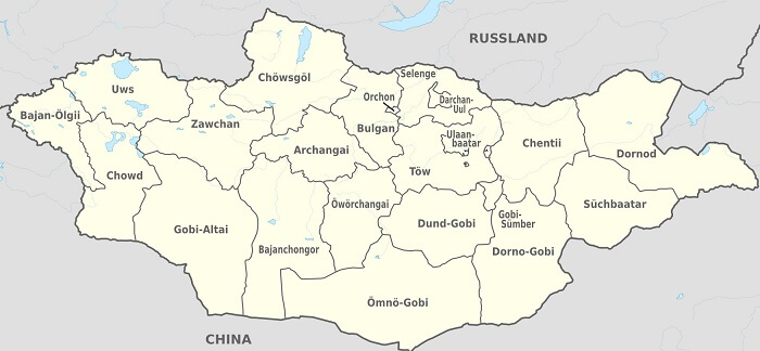 Moğolistan haritası
