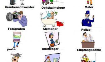 Resimli Almanca Meslekler