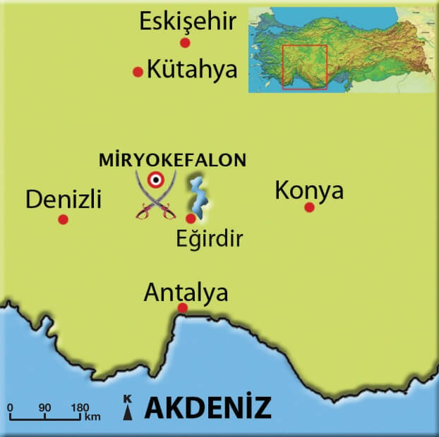 Miryokefalon Savaşı Haritası