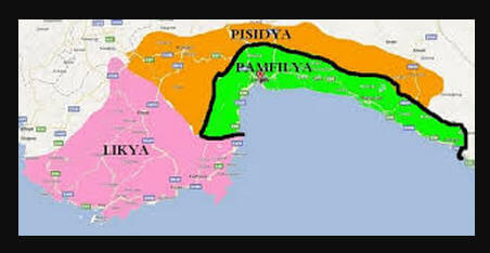 Pamfilya Bölgesi Haritası