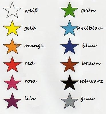 Resimli Almanca Renkler