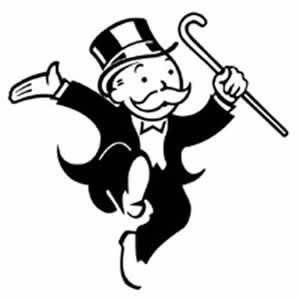 Monopoly Man ( Monopoly Logosunda yer alan meşhur adam)