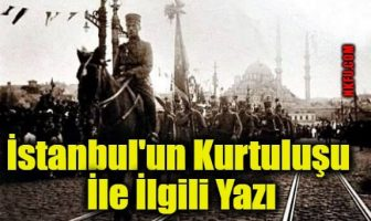 İstanbul'un Kurtuluşu İle İlgili Yazı