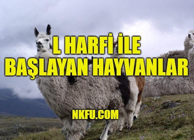 l harfiyle hayvan
