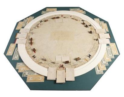 1933 yılına ait el yapımı Monopoly oyunu
