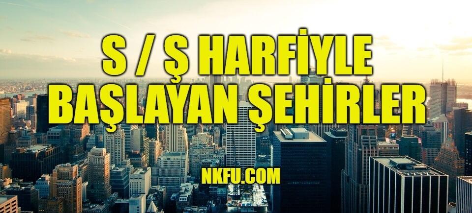 S Harfi ile şehir