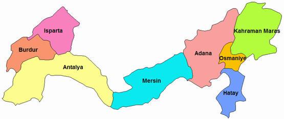 Akdeniz Bölgesi illeri