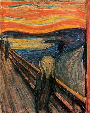 Edvard Munch'un Çığlık tablosu