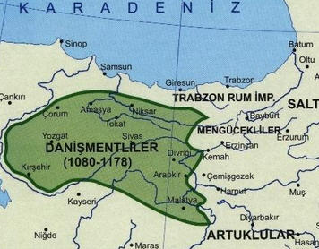 Danişmentoğulları Beyliği Haritası