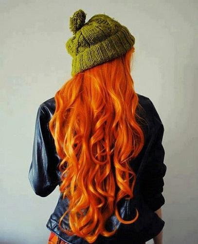 Turuncu Saç Modelleri
