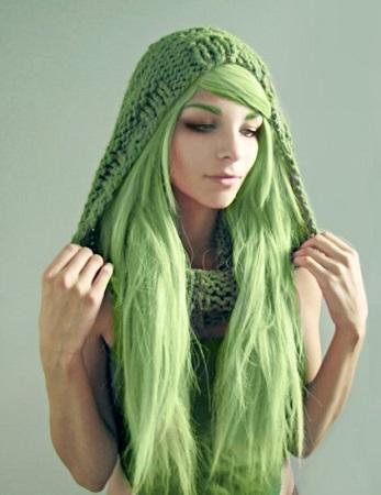 Yeşil Saç Modelleri