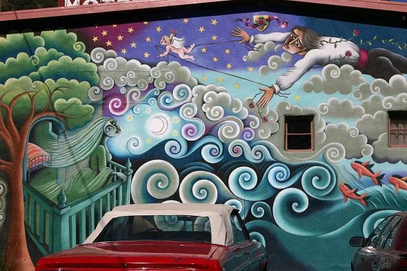 Bir duvar ressamının elinden çıkmış bir eser...