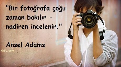 Fotoğrafçılık İle İlgili Sözler