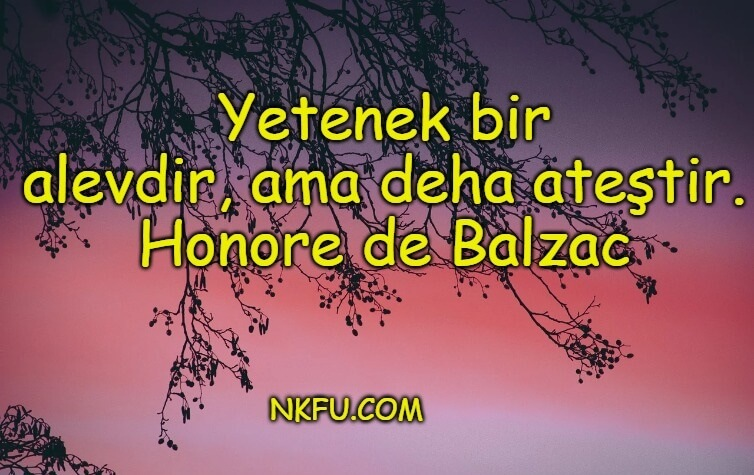 Honore de Balzac Sözleri