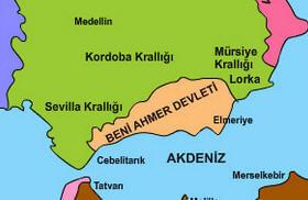 Beni Ahmer Devleti Haritası