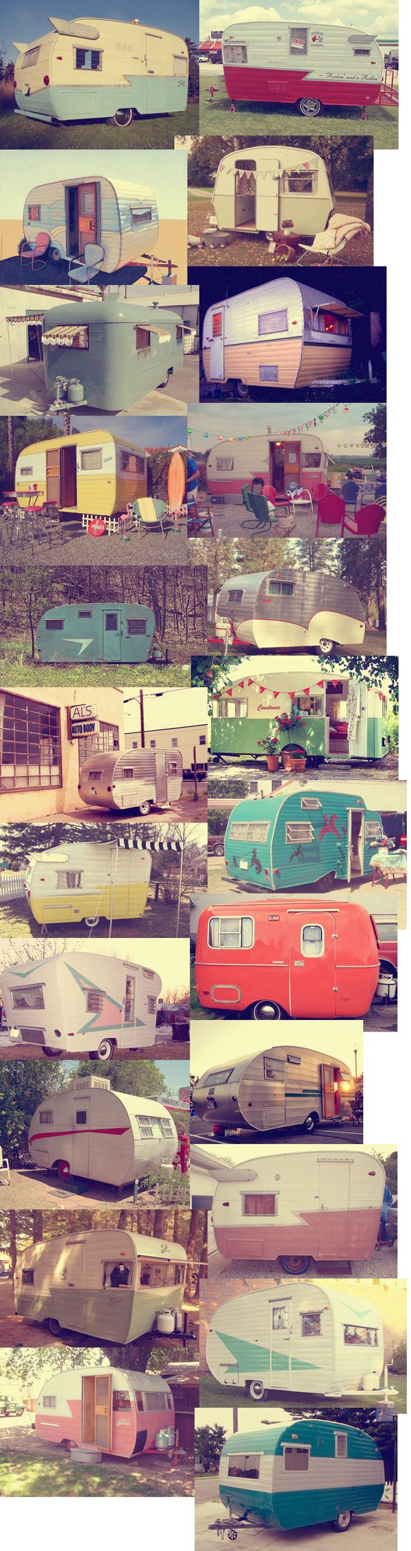 Şirin Renkli Karavanlar