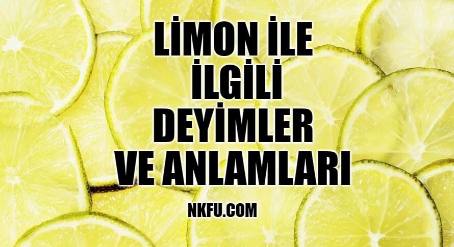 Limon İle İlgili Deyimler ve Anlamları