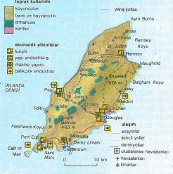 Man adası harita
