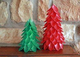 Değişik Malzemelerden Yılbaşı Ağacı Yapımı – Evde Yılbaşı Ağacı Yapın