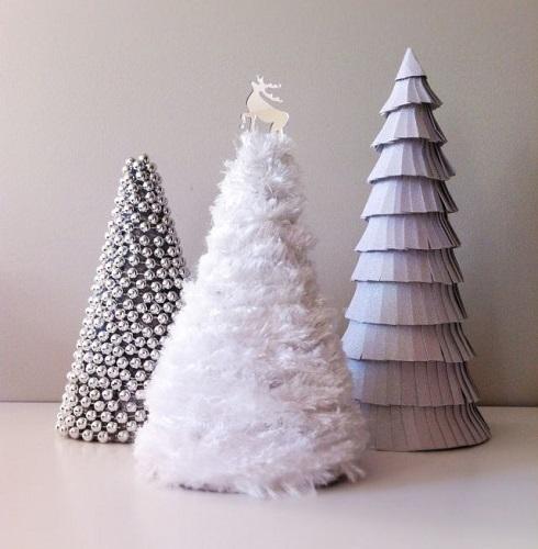 Değişik Malzemelerden Yılbaşı Ağacı Yapımı
