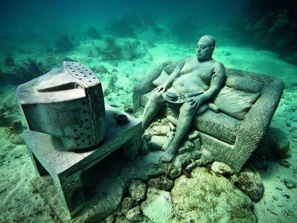Cancun underwater museum sualtı müzesi fotoğrafları