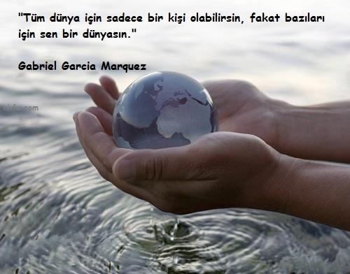 Gabriel Garcia Marquez Sözleri