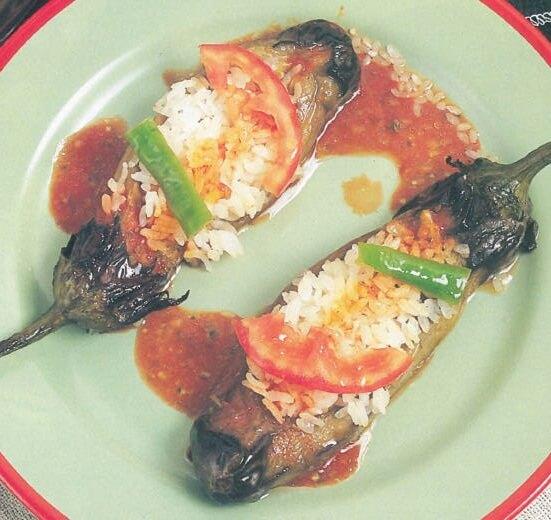 Pirinçli Patlıcan Kebabı Tarifi