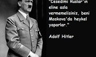 Adolf Hitler'in Ölmeden Önceki Son Sözleri