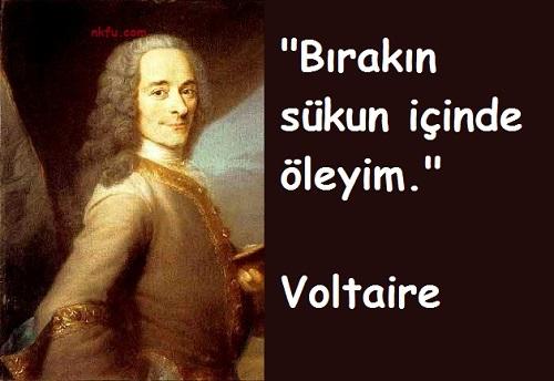 Voltaire'in Ölmeden Önceki Son Sözleri
