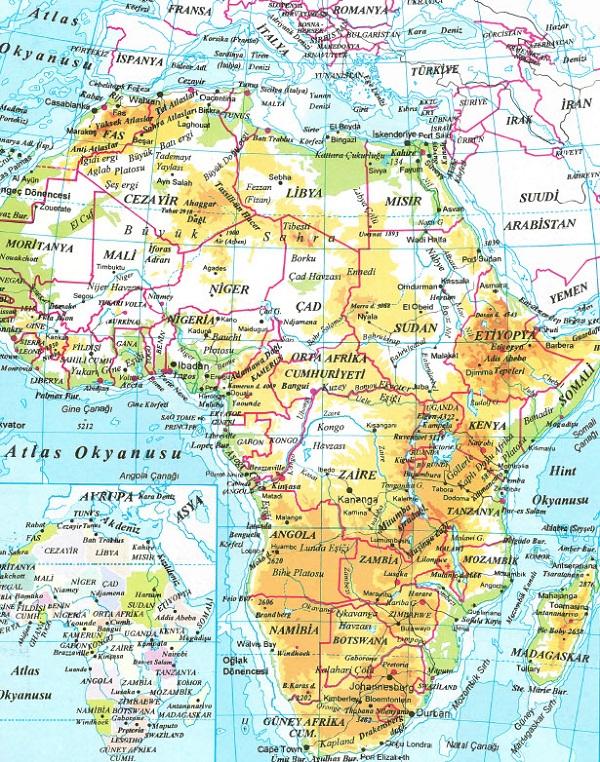 Afrika Fiziki Haritası
