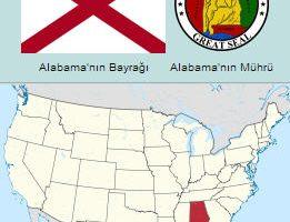 Alabama Eyaletinin Haritası ve Bayrağı, Arması