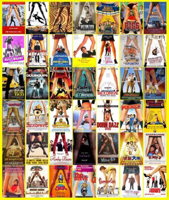 Bacak arası sinema poster tarzı. genellikle komedi filmlerinde tercih ediliyor.
