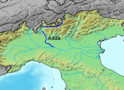 Adda ırmağı Haritası