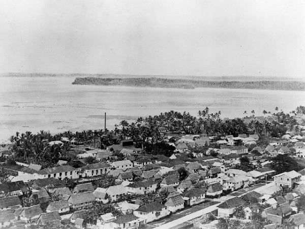 İkinci Dünya Savaşı sırasında Hagåtña (Agana)'da çekilmiş bir fotoğraf